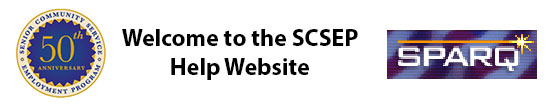 SCSEP Web Data Collection System Website